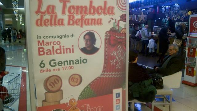 """""""La Tombola della Befana"""" al Tiburtino con Marco Baldini"""