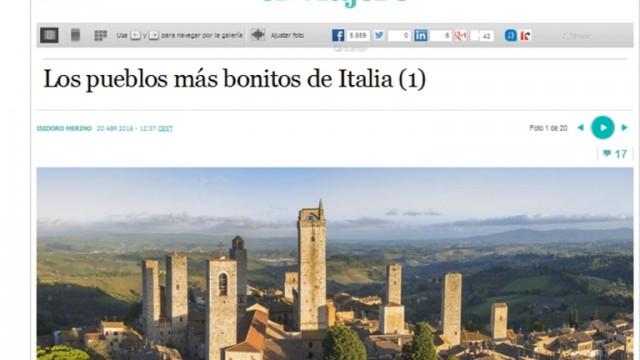 I borghi più belli d'Italia secondo El Pais: in testa c'è San Gimignano