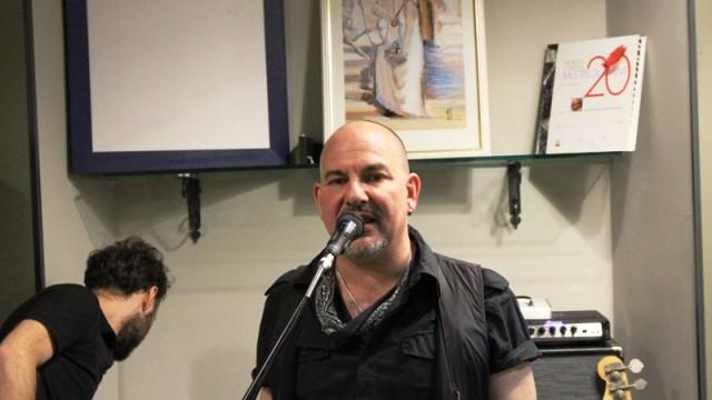 Intervista a Mark Hanna durante la serata concerto al Mix di Tivoli