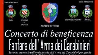 Concerto di beneficenza Fanfara dell'Arma dei Carabinieri