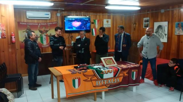 Il Roma Club Guidonia premia Arturo Mariani