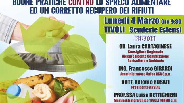 """Spreco alimentare e corretto ciclo dei rifiuti, """"CucinaRe"""" a Tivoli il prossimo 4 marzo"""