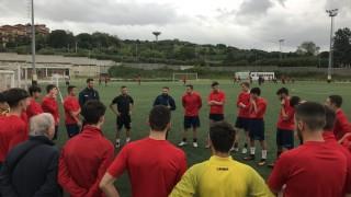 Falzerano agli allenamenti dell'Under 19 del Guidonia