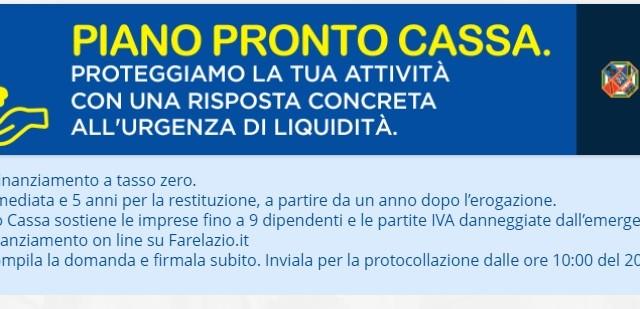 """Cartaginese (Lega): """"Piano Pronto Cassa, Zingaretti sposti il Click Day"""""""