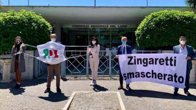 La Lega protesta per l'assenza in Aula di Zingaretti