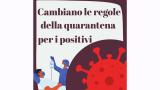 Cambiano le regole della quarantena per i pazienti positivi al Covid