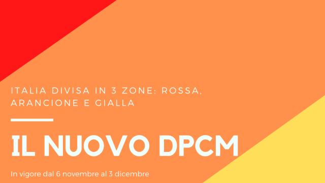 Nuovo Dpcm – Italia divisa in tre zone