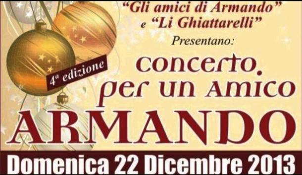 Concerto Per Un Amico… Armando